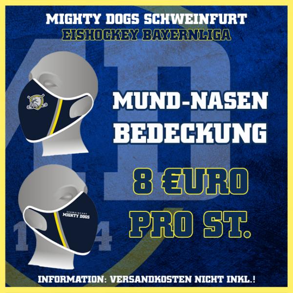 Mighty Dogs Mund-Nasen-Bedeckung